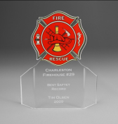 "7"" tall x 6"" wide x 3/16"" thick acylic - Fire Fighter -"