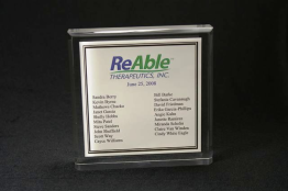 "Beveled Edge Lucite Square Embedment 5 "" x 5 "" x 7/8 """