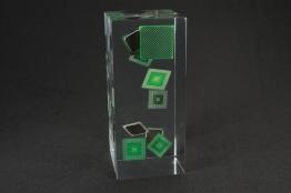 """Rectangular Block Lucite Embedment  3 """" x 6 1/2 """" x 3 """" Thick"""
