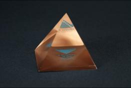 "Lucite Pyramid Embedment  3 "" x 3 "" x 3 """