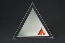 "Clear Lucite Triangle Embedment 6 "" x 4 1/2 "" x 1 """