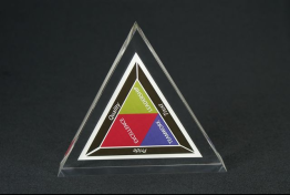 "Clear Lucite Triangle Embedment 5 "" x 4 1/2 "" x 1 """