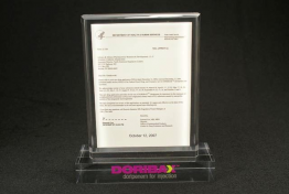 """Finacicial Tombstone Embedment  5 """" x 7"""" x 7/8"""""""