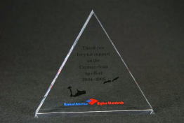 "Lucite StandardTriangle Blank 4 1/2 "" x 5 "" x 3/4"""