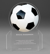 "7"" tall x 6"" wide x 3/16"" thick acylic - Soccer Ball -"