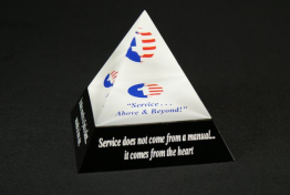"Lucite Pyramid Embedment  3 "" x 3 "" x 3 """