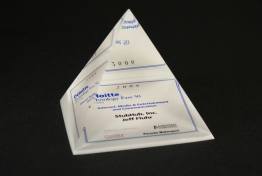 "Lucite Pyramid Embedment  4 1/2 "" x 5 "" x 4 1/2 """