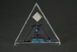 "Clear Lucite Triangle Embedment 4 "" x 3 1/2 "" x 1"""