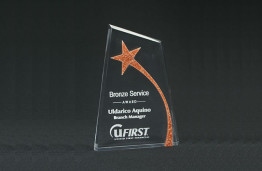 "Beveled Bronze Star Apex Accent 120S 5"" x 7"" x 7/8"""