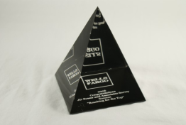 "Lucite Pyramid 3 1/2 "" x 4 "" x 3 1/2"""