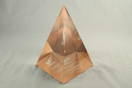 "Lucite Pyramid 5 "" x 8 "" x 5 """
